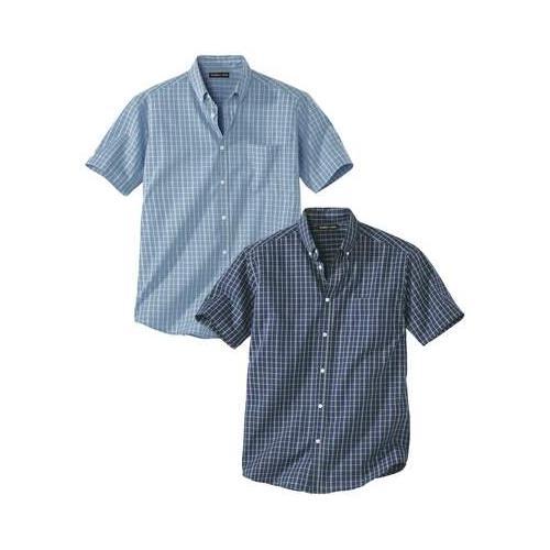2er-Pack Hemden mit Karomuster