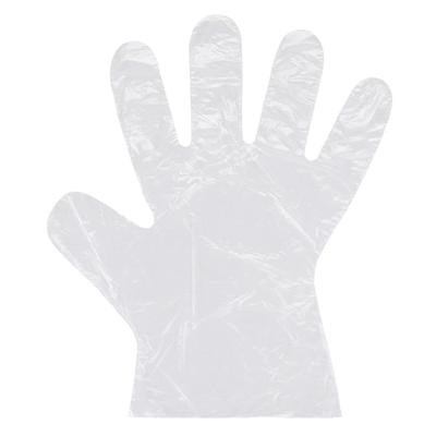 STRONG Manufacturers 74012 Disposable Poly Gloves - Clear, Small