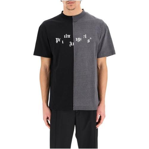 Palm Angels Kaputtes Logo getäfeltes T-Shirt