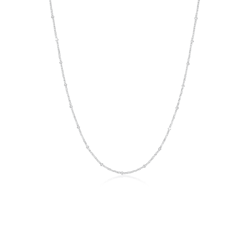 Halskette Basic Panzerkette Kugeln Trend Fein 925 Silber Elli Silber