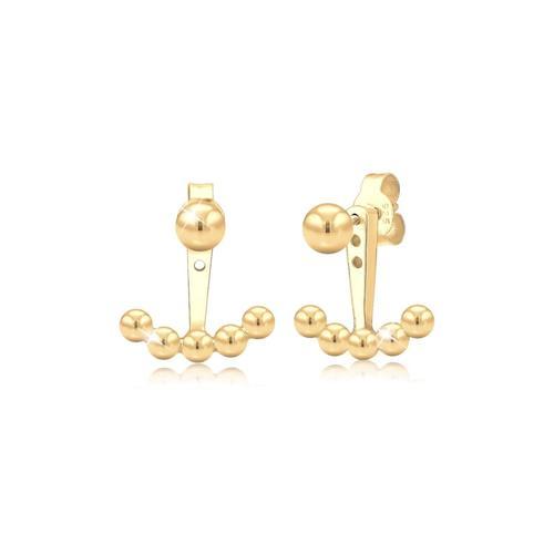 Ohrringe Ear Jacket Kugeln Trend 925 Sterling Silber Elli Gold