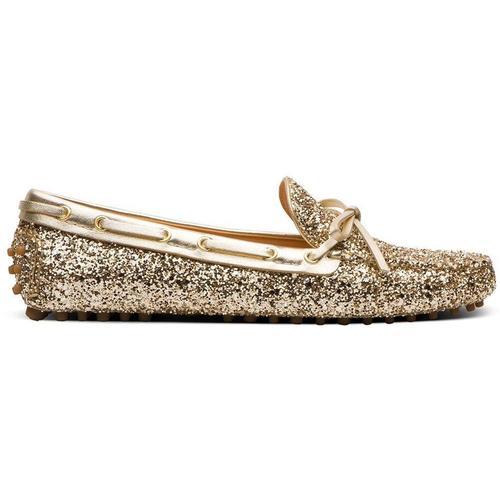Car Shoe Loafer in Metallic-Optik