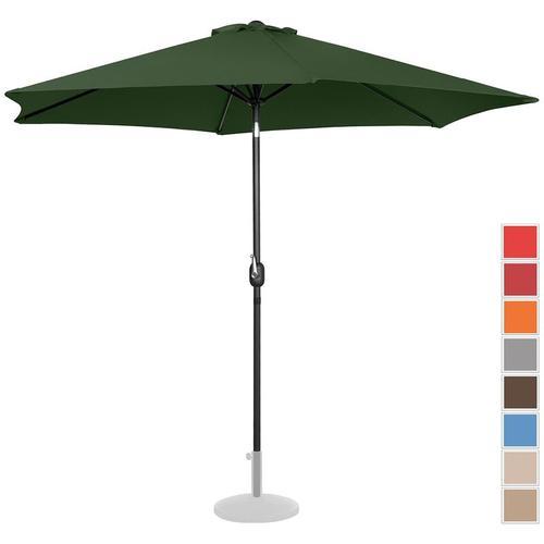 Sonnenschirm groß Gartenschirm (sechseckig, Ø 300 cm, neigbar, grün) - Uniprodo