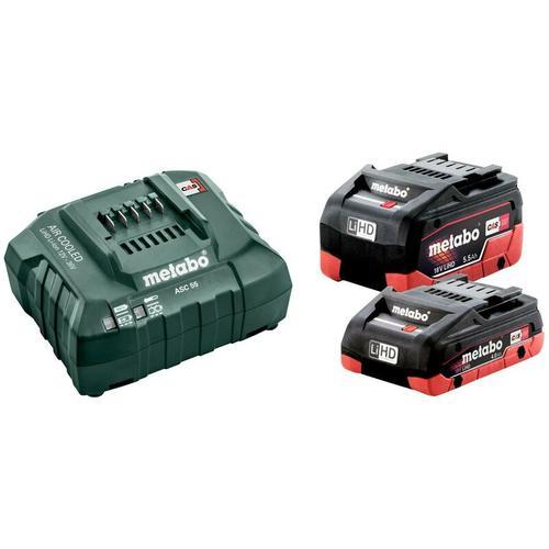 METABO Basis Set LiHD im Karton 1x4,0 Ah, 1x5,5 Ah, ASC 30-36 V