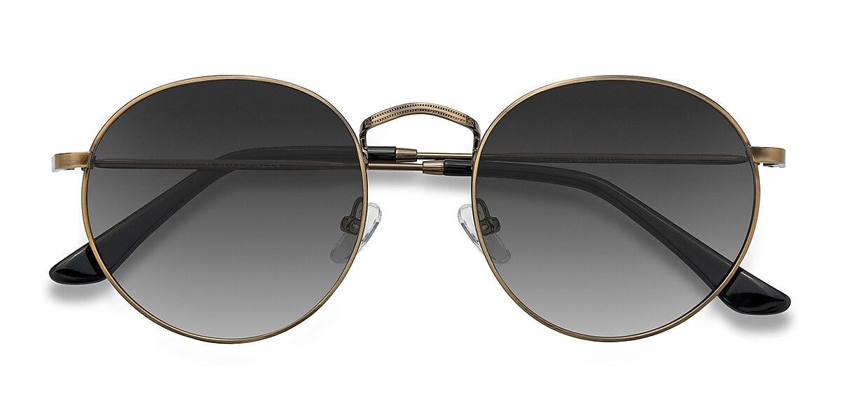 Unisex Round Brown Metal Prescription sunglasses - EyeBuydirect's Disclosure