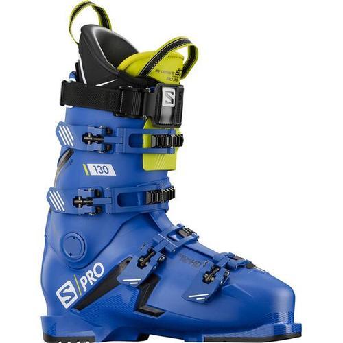 SALOMON Herren Skischuhe S/PRO 130 Bootfitter Friendly, Größe 27/27,5 in RACE BLUE/BLACK/Acid Green
