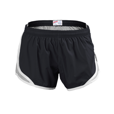 Soffe S081GP Girls Team Shorty Short in Black/silver size Large | Polyester