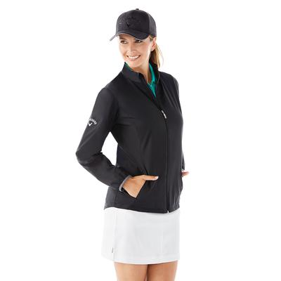 Callaway CGW585 Women's Full Zip Wind Jacket in Black size 3XL | Mesh