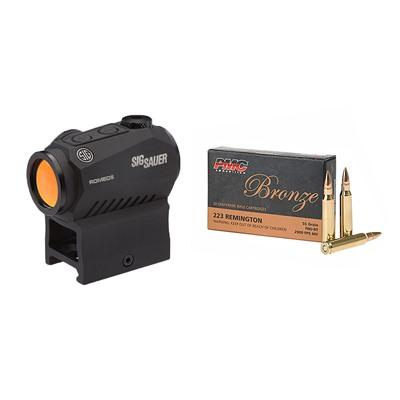Brownells Bronze .223 Remington Ammo With Romeo5 Compact Red Dot Sight - 223 Remington 55gr Fmj 200r