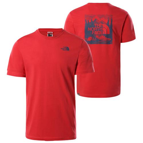The North Face - S/S Redbox Celebration Tee - T-Shirt Gr L rot