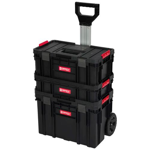 Kreher Werkzeugtrolley, (Set, 3 St.), 2 Boxen, 1 Trolley schwarz Werkzeugtrolley Werkzeugkoffer Werkzeug Maschinen