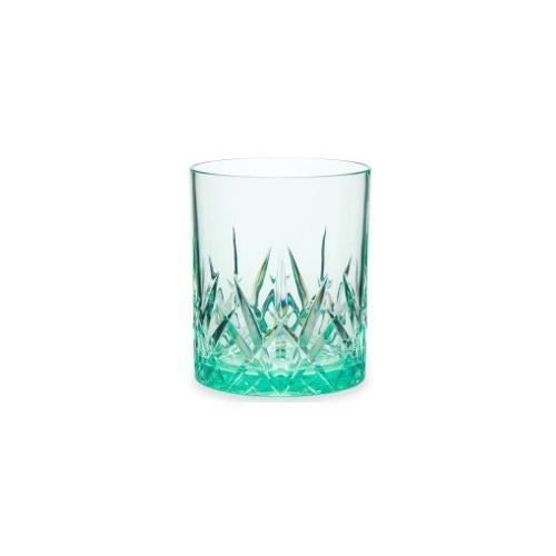 Q Squared NYC Whiskyglas, (Set, 6 tlg., x Gläser), aus sicherem Material - TRITAN-Kunststoff, 300 ml grün Whiskygläser Gläser Glaswaren Haushaltswaren Whiskyglas