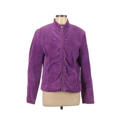 Wilsons Leather Maxima Coat: Purple Solid Jackets & Outerwear - Size X-Large