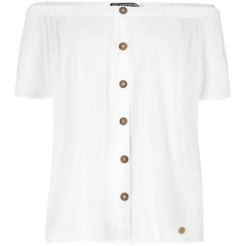 Eight2Nine Offshoulder Bluse Damen-Bluse - weiß