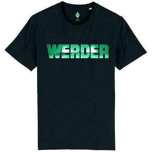 Werder Bremen Werder Herren-T-Shirt - schwarz - Offizieller & Lizenzierter Fanartikel