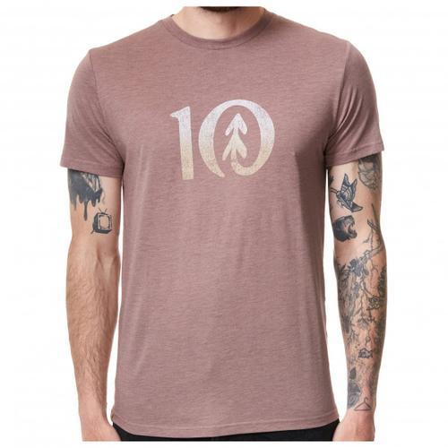 tentree - Gradient Ten T-Shirt Gr XXL grau/beige