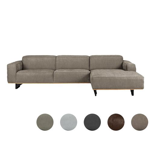 Carla & Marge »Pinorja« Sofa 4-Sitzer Récamiere links / Taupe