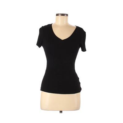 Philosophy Republic Clothing - Philosophy Republic Clothing Short Sleeve T-Shirt: Black Solid Tops - Size Medium