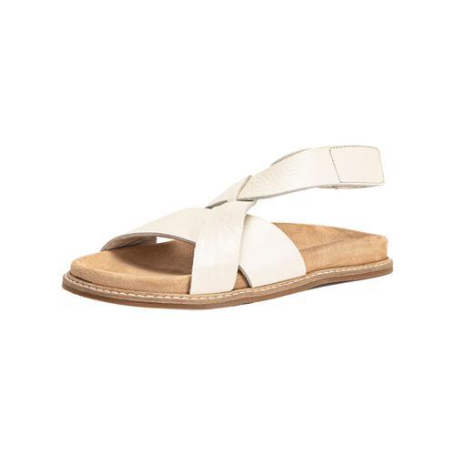INUOVO Schaftsandalette Leder beige Damen Sandaletten Sandalen