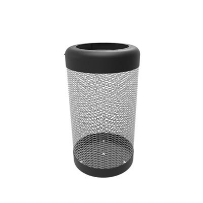 "emu U638 37 gal Outdoor Litter Bin - 19 1/2""D x 35 1/2""H, Steel, Black/Gray"