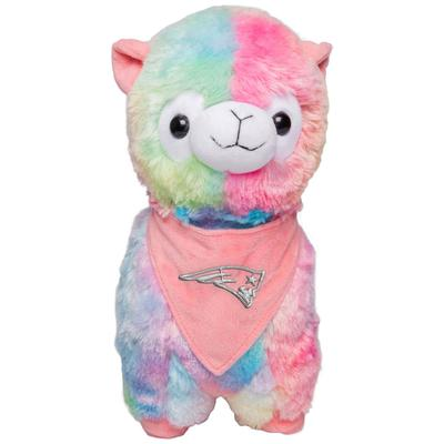New England Patriots Rainbow Bandana Llama Plush Toy