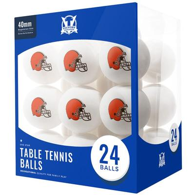 Cleveland Browns 24-Count Logo Table Tennis Balls