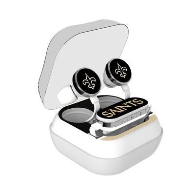 New Orleans Saints Stripe Design Wireless Earbuds