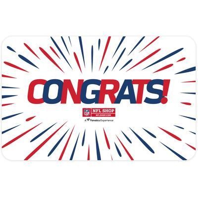 NFL Shop Congratulations eGift Card ($10 - $500)