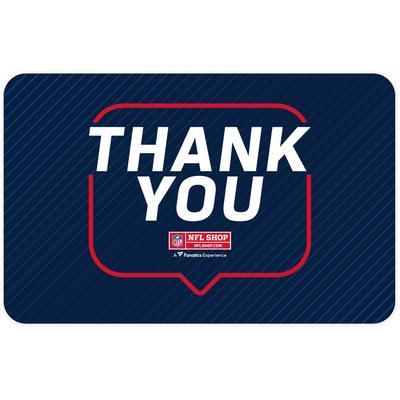NFL Shop Thank You eGift Card ($10 - $500)