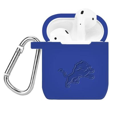 Royal Detroit Lions Debossed Silicone AirPods Case Cover