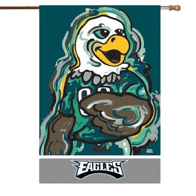 Philadelphia Eagles 29'' x 43'' Double-Sided Justin Patten House Flag