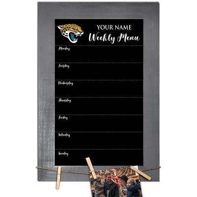 """Jacksonville Jaguars 11"""" x 19"""" Personalized Team Weekly Chalkboard with Frame"""