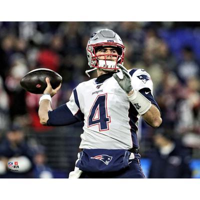 Unsigned New England Patriots Jarrett Stidham Fanatics Authentic Throwing Photograph