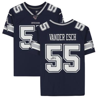 Autographed Dallas Cowboys Leighton Vander Esch Fanatics Authentic Navy Nike Limited Jersey