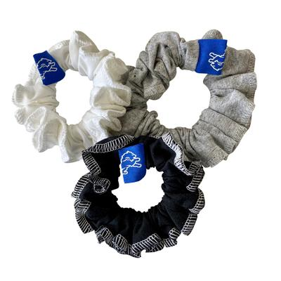 Refried Apparel Detroit Lions Upcycled 3-Pack Scrunchie Set