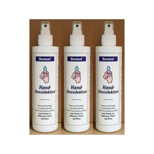 3 x 250 ml Bactazol Handdesinfektionsmittel