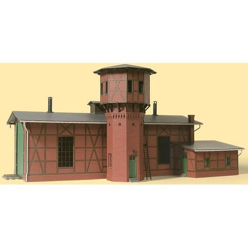 Auhagen Modelleisenbahn-Gebäude Lokschuppen mit Wasserturm, Made in Germany braun Kinder Schienen Zubehör Modelleisenbahnen Autos, Eisenbahn Modellbau