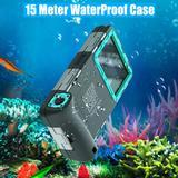 Coque professionnelle étanche à 15M, pour iPhone 12 Pro Max 11 XR XS 8 7 6s Samsung Galaxy S21 Ultra