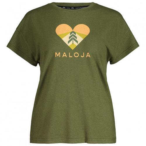 Maloja - Women's KlappertopfM. - T-Shirt Gr M oliv