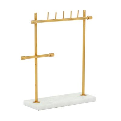 Gold Marble Modern Jewelry Stand, 13 x 12 x 4 - 54280