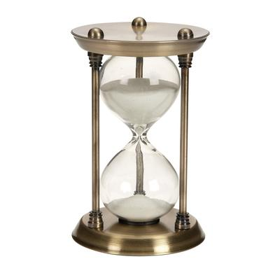 """Brass Metal Glam Timer, 7 """" x 4 """" x 4 """" - 58155"""