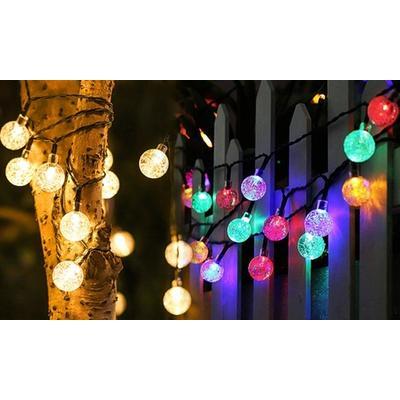 Guirlande lumineuse avec 20 ampoules : Blanc chaud + Multicolore / 2