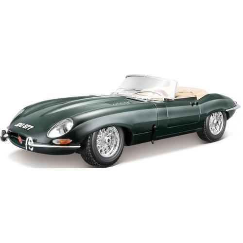 Bburago Sammlerauto Jaguar E-Type Cabrio (1961), 1:18 grün Kinder Modellautos Modellfahrzeuge Autos, Eisenbahn Modellbau
