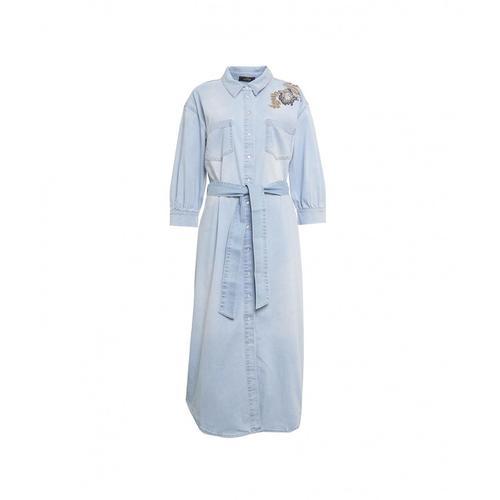 My Twin Damen Hemdkleid in Denim Blau