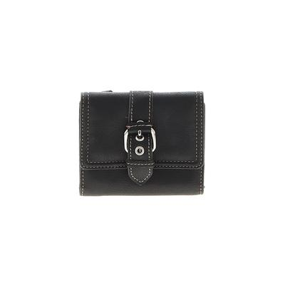 Charter Club - Charter Club Leather Wallet: Black Solid Bags