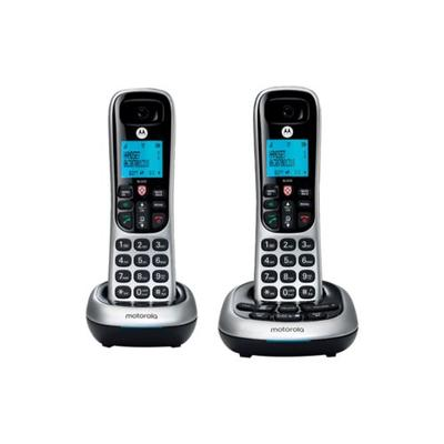 Motorola Silver CD4 Series Digital Cordless Telephone with Answering Machine - Set of 2 Handsets