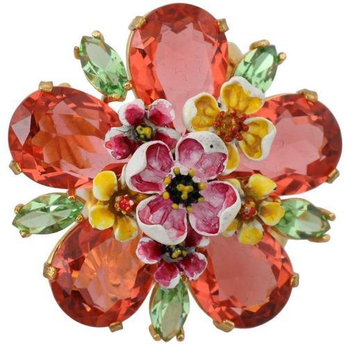 Dolce & Gabbana Messing Kristall Blumenring