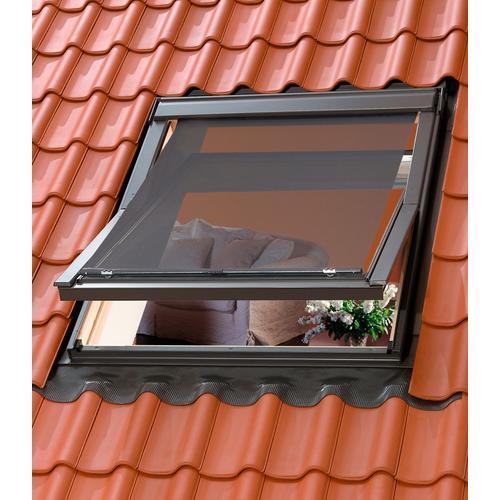 VELUX Dachfensterrollo Hitzeschutzmarkise, Lichtschutz schwarz Verdunkelungsrollos Rollos Jalousien