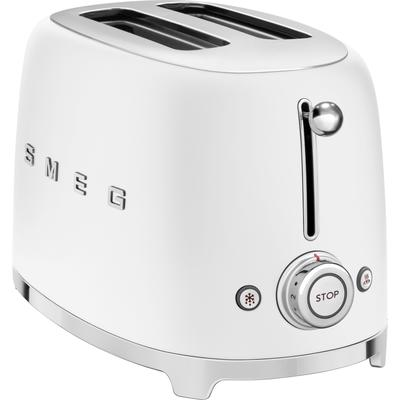 Smeg Toaster TSF01WHMEU, 2 kurze...