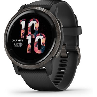 Garmin Venu 2 GPS Smartwatch, Slate and Black